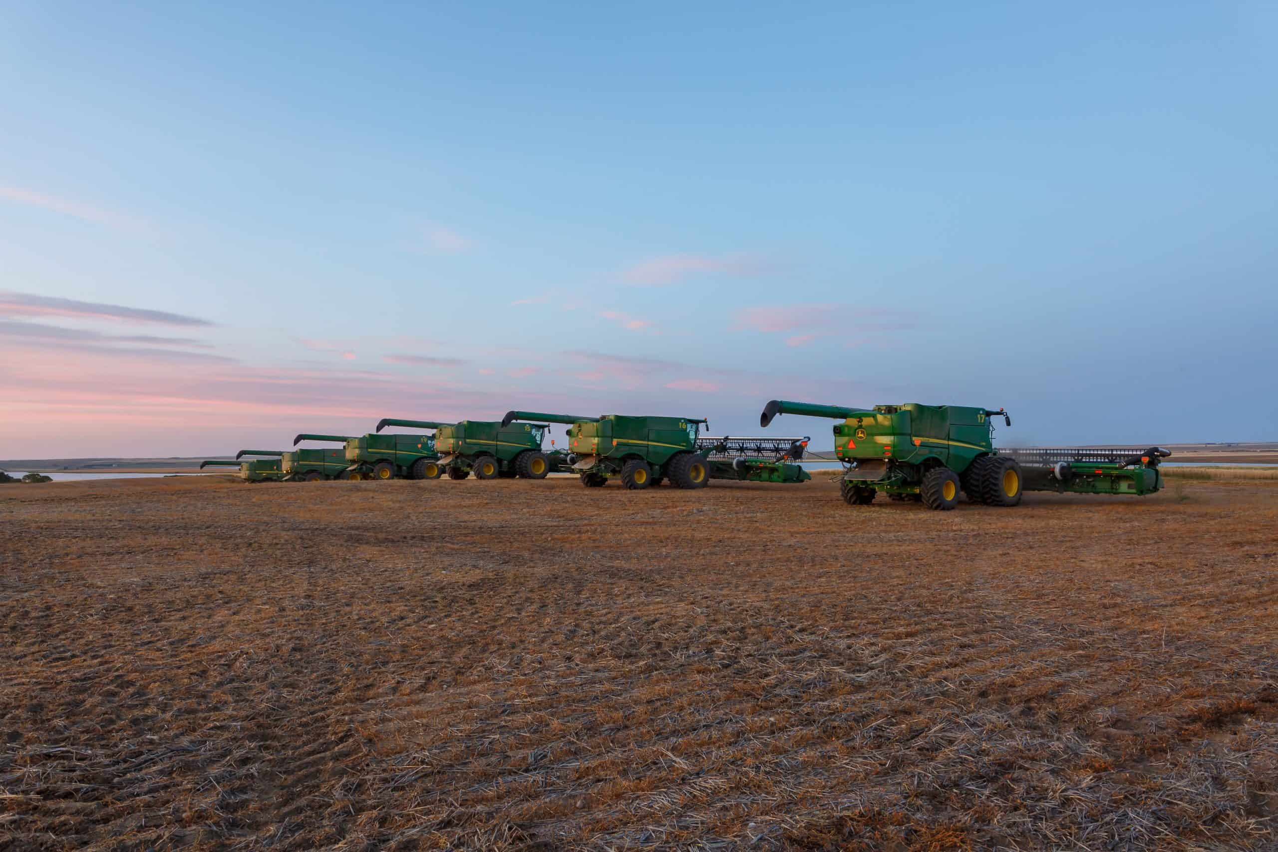 Combine harvesters on a field | Precision Agriculture Application